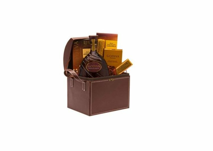 Go Go Diva Chocolate Liqueur Gift Basket, Godiva Gift basket, Liquor and Godvia Gift Basket, Chocolate Gift basket, 21st birthday gifts, sympathy gift basket