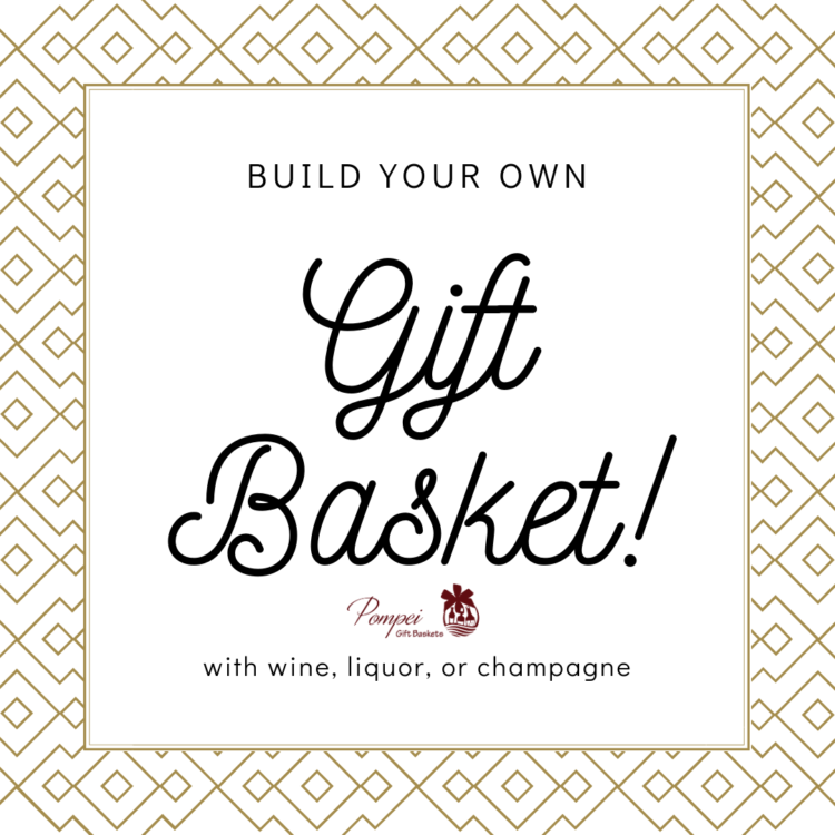 build your own gift basket, create your own gift basket, custom gift basket, create gift basket with tine, create gift basket with liquor, create gift basket with champagne, engraved gift basket, gift baskets nj
