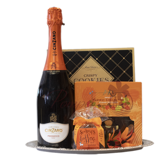 Orange your glad prosecco gift basket, cinzano gift basket, engraved prosecco, italian gift basket, fall gift basket, cinzano Cinzano Prosecco di Valdobbiadene gift, engraved prosecco gift basket, Cinzano Gift Basket