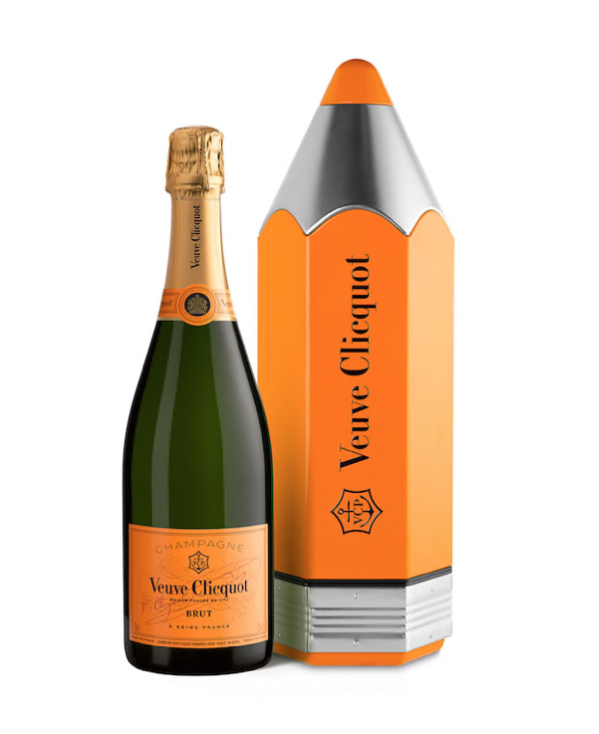 Veuve Clicquot Pencil, Veuve Clicquot Pencil Tin, Veuve Clicquot Pentil Gift Box,Veuve Clicquot Gift Set, Custom Champagne Gift Basket, Veuve Clicquot Gift Basket, Engraved veuve Clicquot, veuve clicquot gift basket