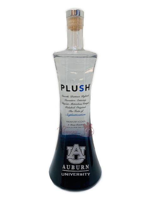 Auburn University PLUSH Premium Vodka, Auburn Alumni PLUSH Vodka, Engraved PLUSH Vodka, Plush plum vodka, plum vodka, nfl vodka, ny jets vodka, auburn vodka, AU Alumni Plum Vodka,