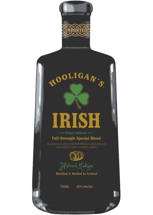Hooligans Irish Ginger Infused Whiskey, Hooligans Irish Whiskey, St Patricks Day Gifts, Engraved irish Whiskey, Hooligans Whiskey