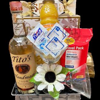 Quarantini Vodka Gift Basket, Martini Gift Basket, Funny Coronavirus Gifts, Covid19 Gift Baskets, Titos Gift basket, Quarantine Gift Baskets, Funny Gag Gifts, Coronavirus gifts