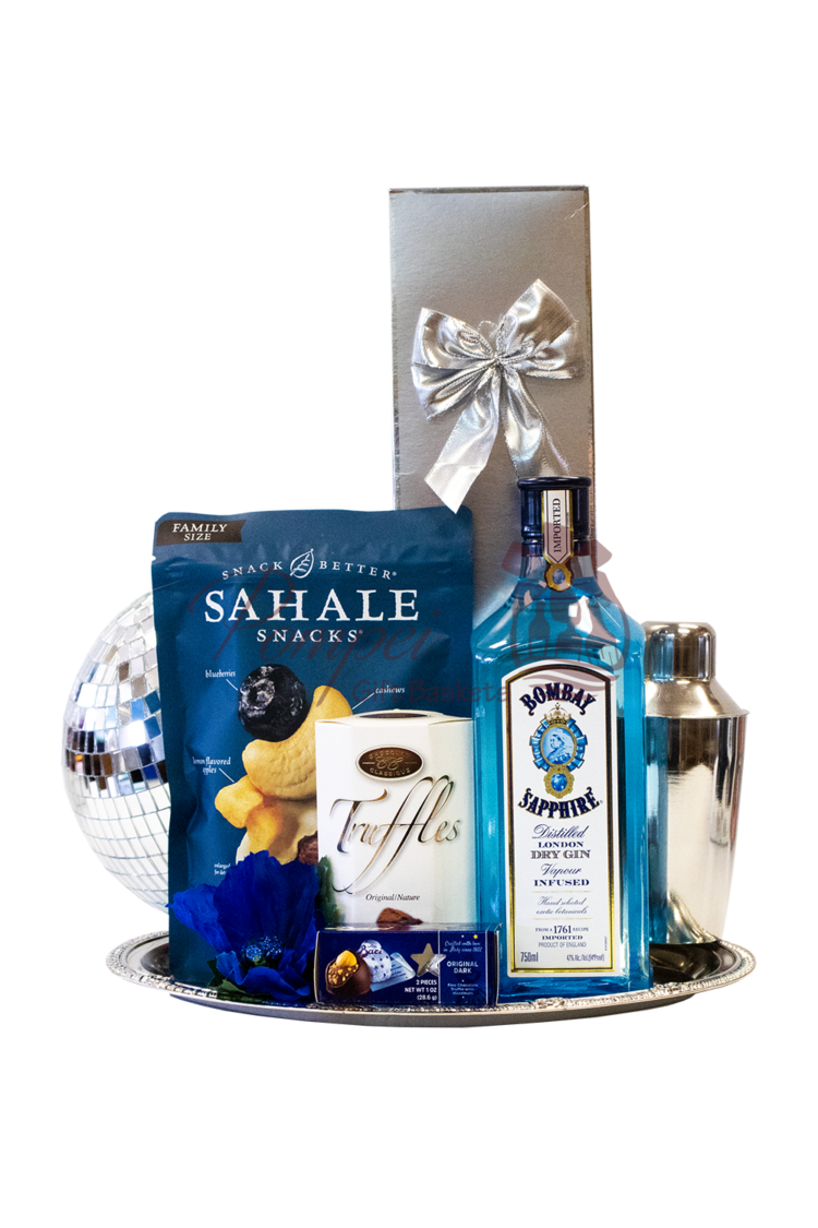 Be My Bae Bombay Gin Gift Basket, mothers day gift basket, mothers day gifts, gin gift basket, bombay gift basket, covid19 gift ideas, mother day gift ideas, engraved bombay gin