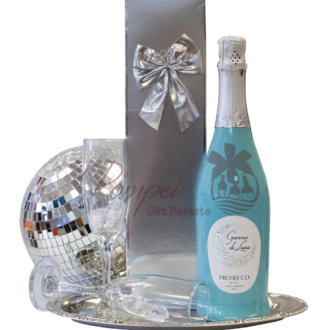 Stars in the Sky Prosecco Gift Basket, gemma di luna prosecco, prosecco gift basket, blue gift basket, mothers day gift baskets, mother day gift ideas, covid19 gift ideas, quarantine gift ideas, celebration gift basket, champagne gift basket