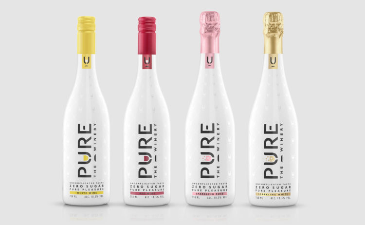 Pure Winery Zero Sugar Sparkling White Wine, Keto Wine, Sugar Free Wine, Sugar Free Red Wine, Zero Sugar Wine, Vegan Wine, Wine to Drink on Keto, Keto Champagne, Sugar Free Sparkling Wine