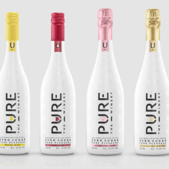 Pure Winery Zero Sugar Sparkling Rose Wine, Keto Wine, Sugar Free Wine, Sugar Free Red Wine, Zero Sugar Wine, Vegan Wine, Wine to Drink on Keto, Keto Champagne, Sugar Free Sparkling Wine