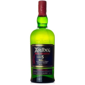 Ardbeg Wee Beastie Single Malt Scotch, Unique scotch whiskey, smokey single malt, single malt scotch, engraved scotch, engraved ardbeg, ardbeg gift basket