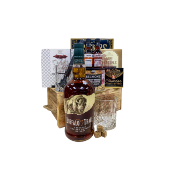 Old Fashioned Bourbon Whiskey Gift Basket, Buffalo Trace Gift Basket, Buffalo Trace Gifts, Old Fashioned Gift Basket, Old Fashioned Cocktail Kit, Send Buffalo Trace