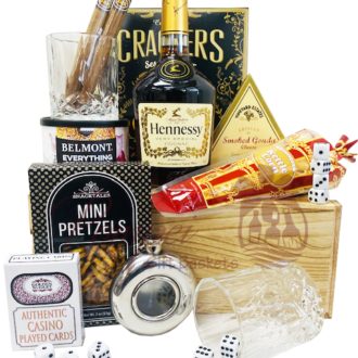 Game Night Cognac Gift Basket, Hennessy Gift Basket, Hennessy Gifts, Engraved Hennessy, Casino Gift Basket, Poker Gift Baskets, Hennessy Hamper Gifts, Send Hennessy Online, Cognac Gift basket