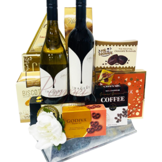 Imagine That Wine Gift Basket, Imagery Wine Gift basket, Mixed Wine Gift Basket, Wine Gift Set, Wine Gift Basket, Wine Gift hamper, Wine Gift Basket for delivery, Deliver Wine Gift Basket