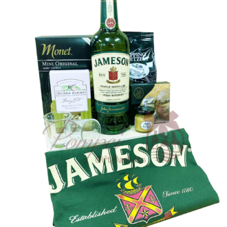 St Patricks Day Irish Whiskey Gift Basket, jameson gift basket, irish whiskey gift basket, st patricks day gifts, st paddys day gifts, st pattys day gifts, irish gift basket, pickle back gift basket, jameson gifts, engraved jameson