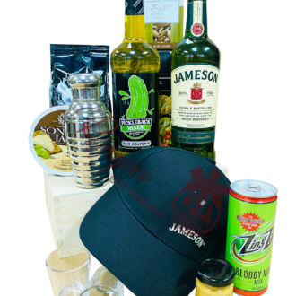 Supreme Irish Whiskey Gift Basket, jameson gift basket, irish whiskey gift basket, st patricks day gifts, st paddys day gifts, st pattys day gifts, irish gift basket, pickle back gift basket, jameson gifts, engraved jameson