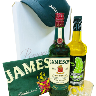 Deluxe Pickle Back Whiskey Gift Set, irish Whiskey Gift Basket, jameson gift basket, irish whiskey gift basket, st patricks day gifts, st paddys day gifts, st pattys day gifts, irish gift basket, pickle back gift basket, jameson gifts, engraved jameson, jameson Gift Set
