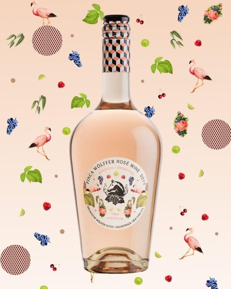 Finca Wolffer Rose, Wolffer Estate Finca Rose, wolffer estate wine, sweet rose wine, engraved rose wine, rose gift basket, Argentinian rose, Rose Wine Gifts